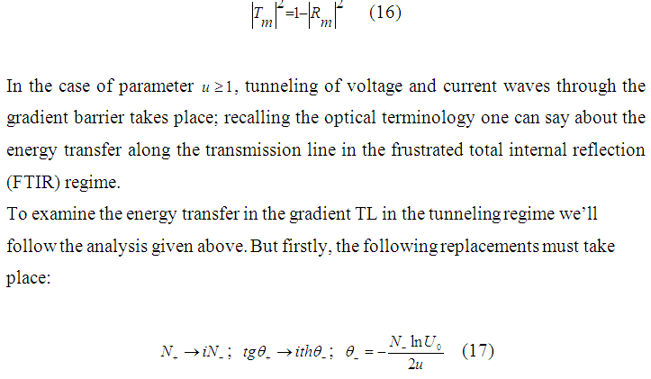 PROPAGATION CHARACTERISTICS OF ELECTROMAGNETIC WAVES IN GRADIENT TRANSMISSION LINE