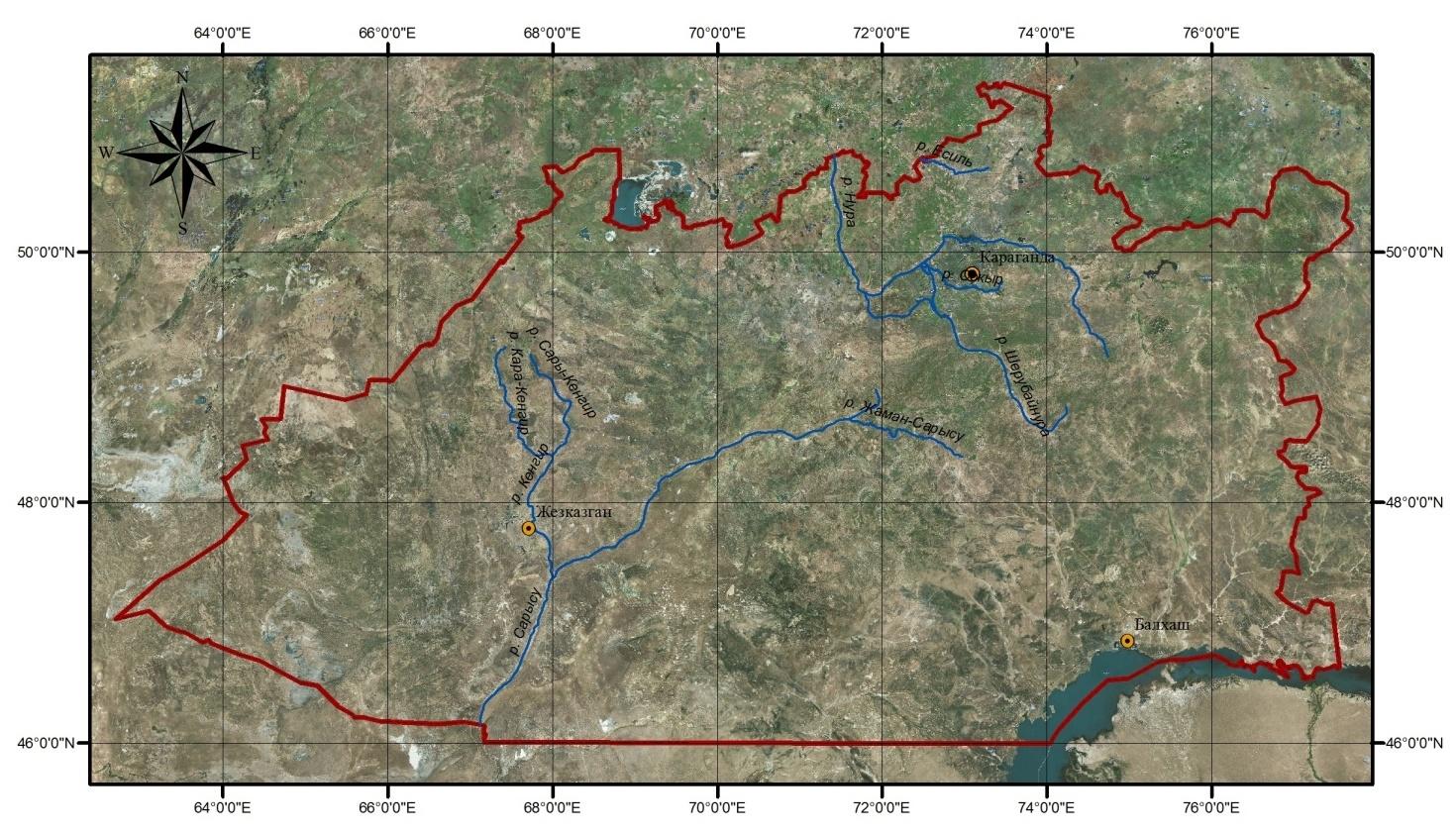 Карта-схема (реки)